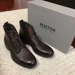 Kenneth Cole men's leather boots brown size 8